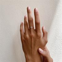 טבעת Vertical Line זהב 14K
