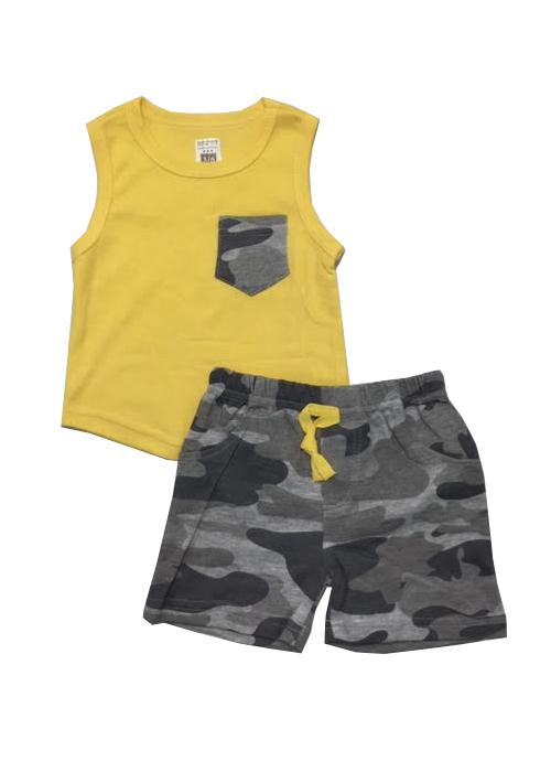 חליפה קצרה גופייה וכיס צבאי