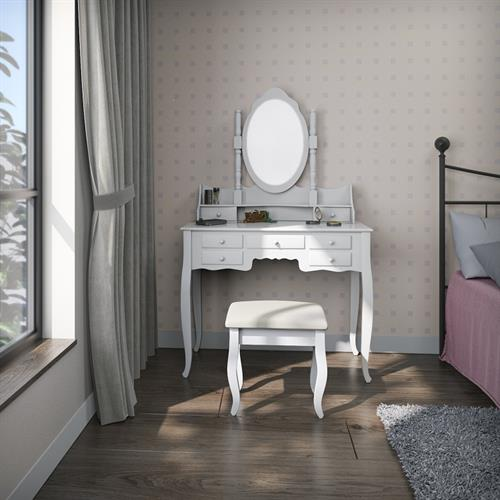 שידת איפור יוקרתית וגדולה + כיסא במתנה לכל רוכש