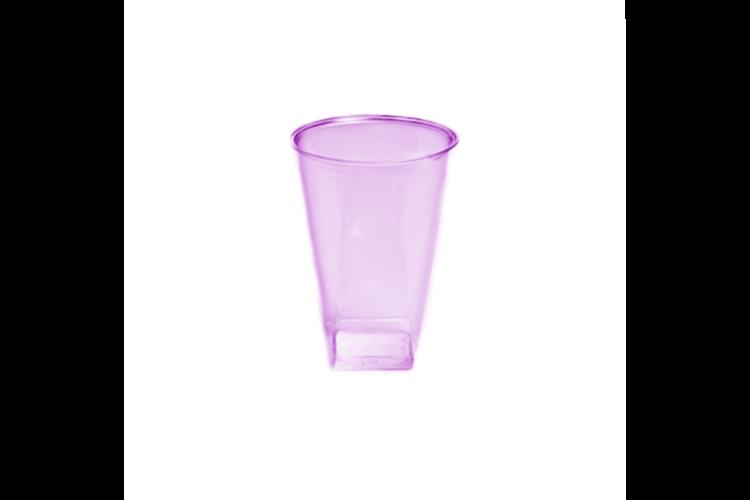 כוס קריסטל מרובעת 20 יח' - סגול