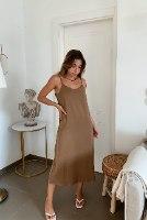 שמלת מידי סאטן לי