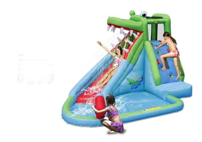 מתקן קפיצה ומים בריכת הקרוקודיל הפי הופ - 9240 - The Crocodile Pool Happy Hop