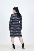 שמלת אלונה פליז מודפס