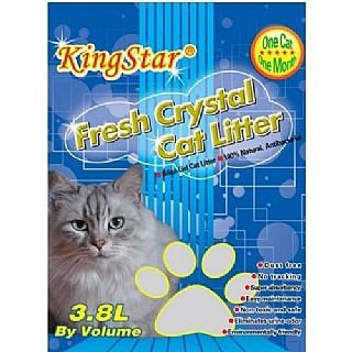 חול לחתולים קריסטל 3.6ליטר Kitty star