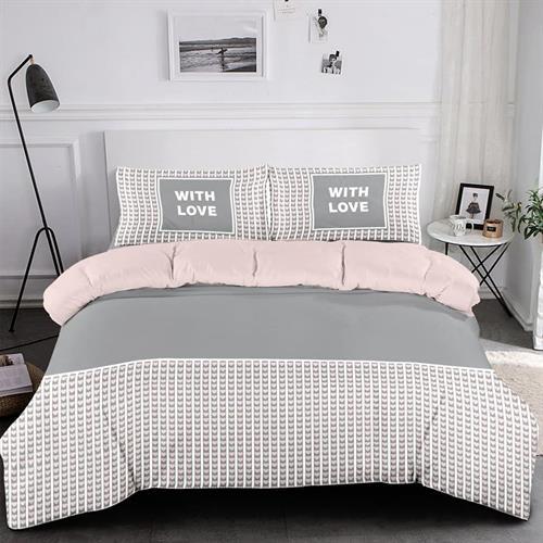 סט מלא מיטה וחצי דגם ברקפס 100% כותנה טהורה