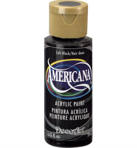 """צבע אמריקנה 59 מ""""ל Soft Black DA155"""