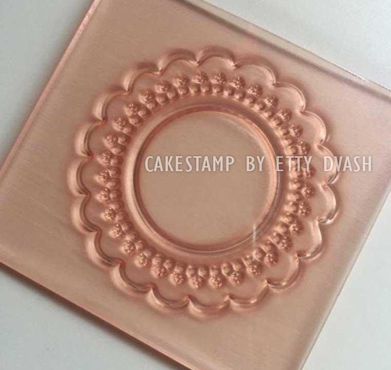 תבנית מסגרת עגולה - יחידה אחת - ליצירה בשוקולד