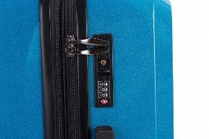 סט 3 מזוודות איכותיות פוליקרבונט TESLA - צבע כחול