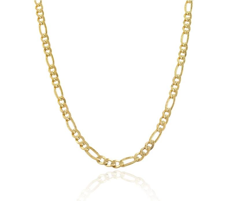 שרשרת חוליות לגבר זהב 14 קאראט דגם פיגרו -6.0 ממ רוחב