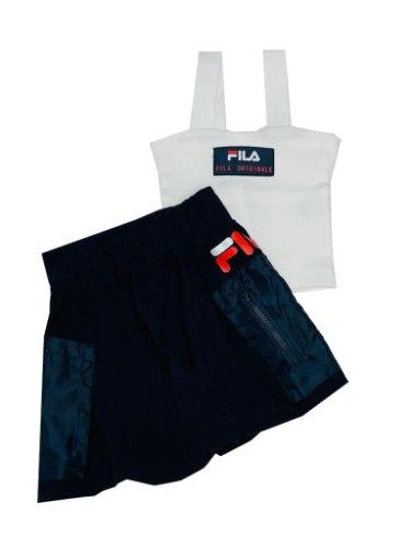 חליפת חצאית FILA ריב לבן 6-16