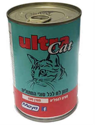 שימורים לחתול אולטרא קט בטעמים 400 גרם
