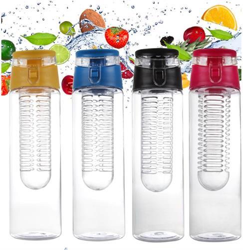 בקבוק מים עם מיכל פנימי להכנת משקאות מפירות/ירקות ותה קר