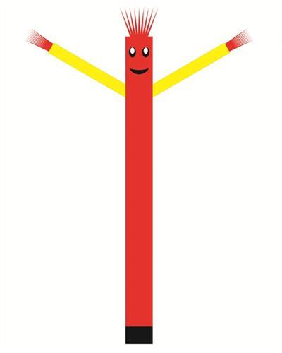 בובת דנסר רוקדת בגובה 6 מטר - צבע אדום ידיים צהובות