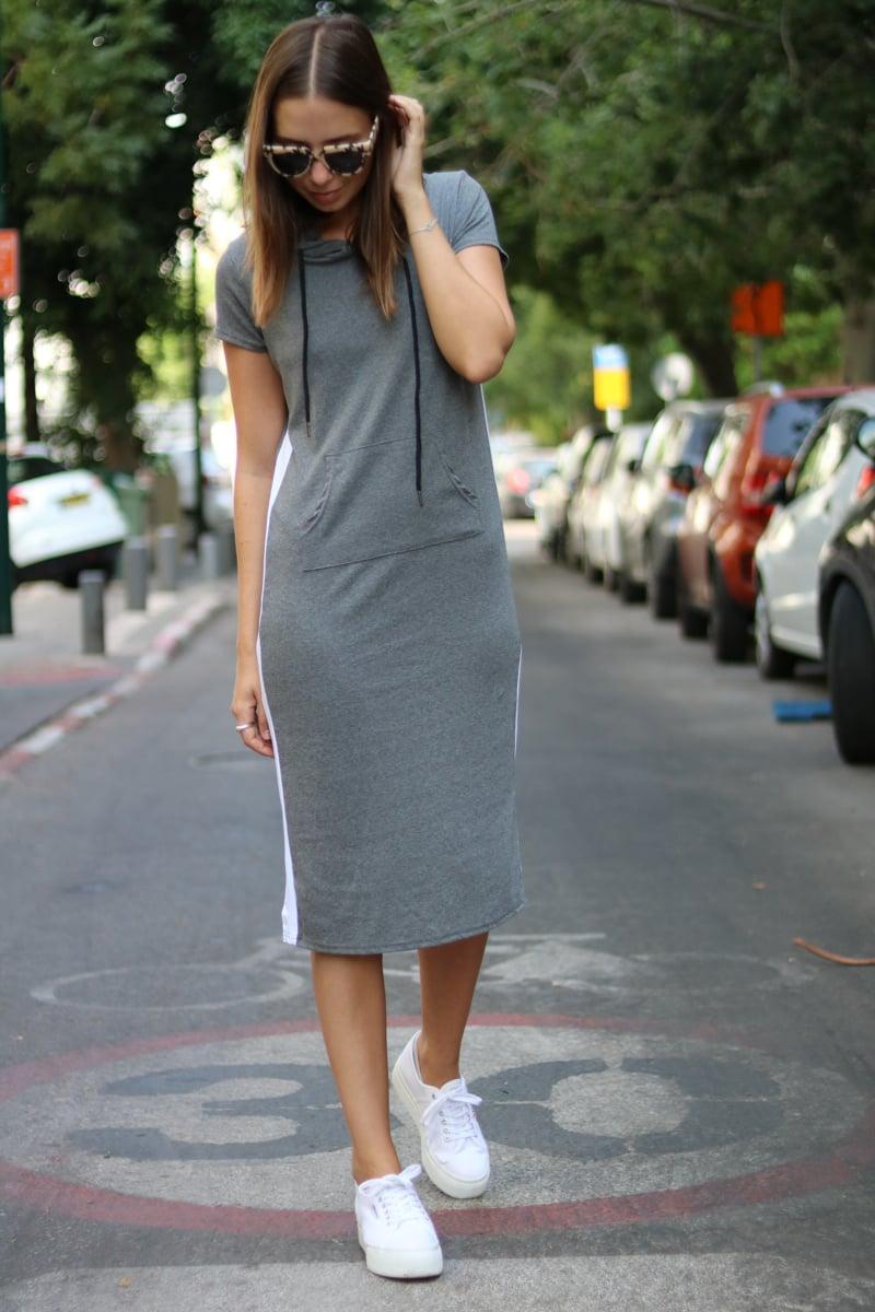 שמלת מידי ריהאנה פס קפוצ'ון