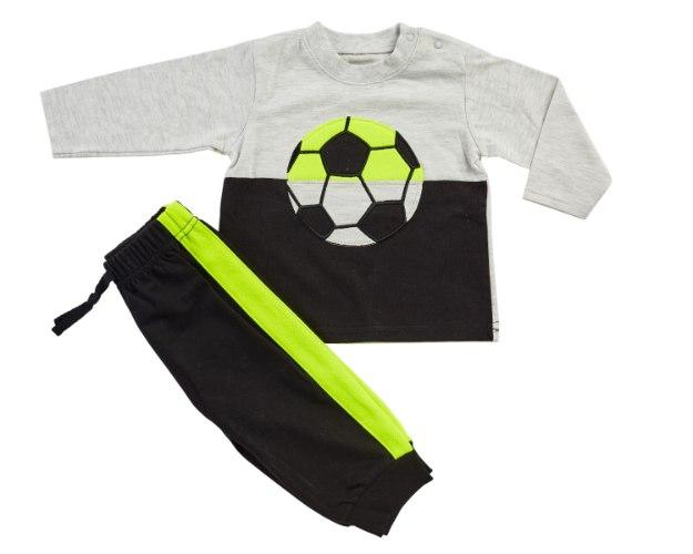 חליפת מעבר כדורגל אפור-ירוק מכנס פרנצ׳ טרי