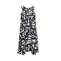 שמלת ג'ואני שחור לבן גאומטרי