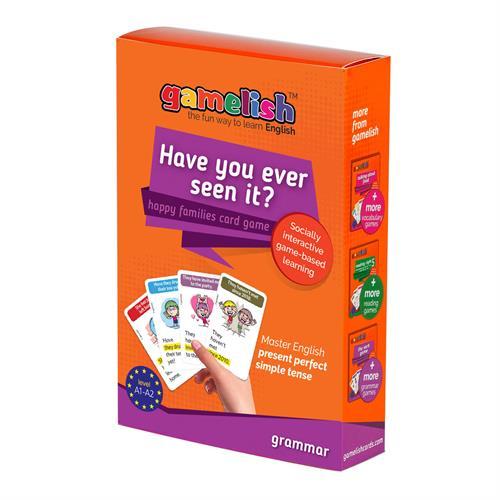 משחק gamelish דקדוק - Have you ever seen it? משחק רביעיות - הווה מושלם פשוט