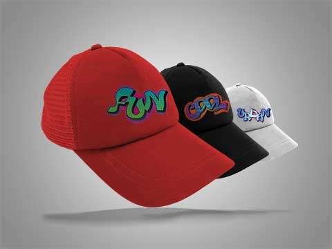 10 כובעי רשת מודפסים