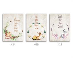 סט של 3 תמונות השראה מעוצבות לחדר תינוקות, ילדים 06