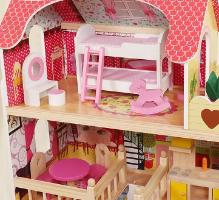 בית בובות וילה, כולל סט אביזרים - צעצועץ