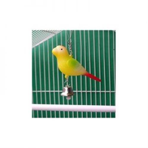 צעצוע לתוכי ציפור על קפיץ