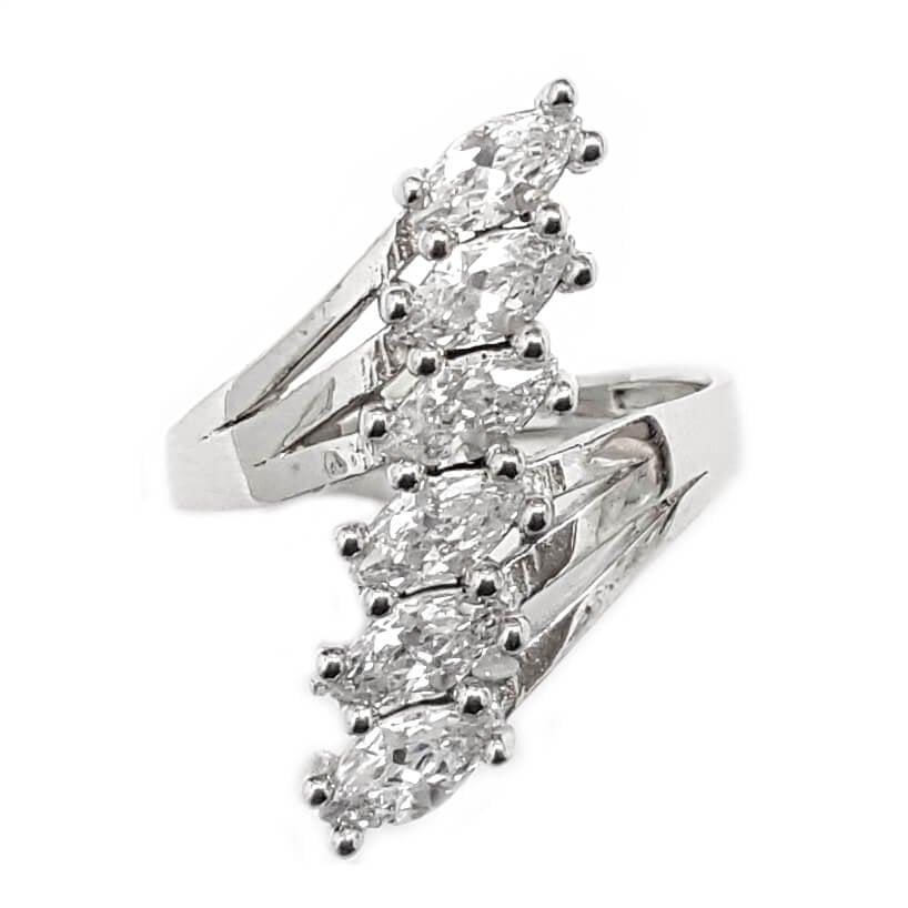 טבעת כסף משובצת  אבני זרקון  RG5774 | תכשיטי כסף | טבעות כסף