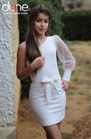 שמלת שרוול צמודה