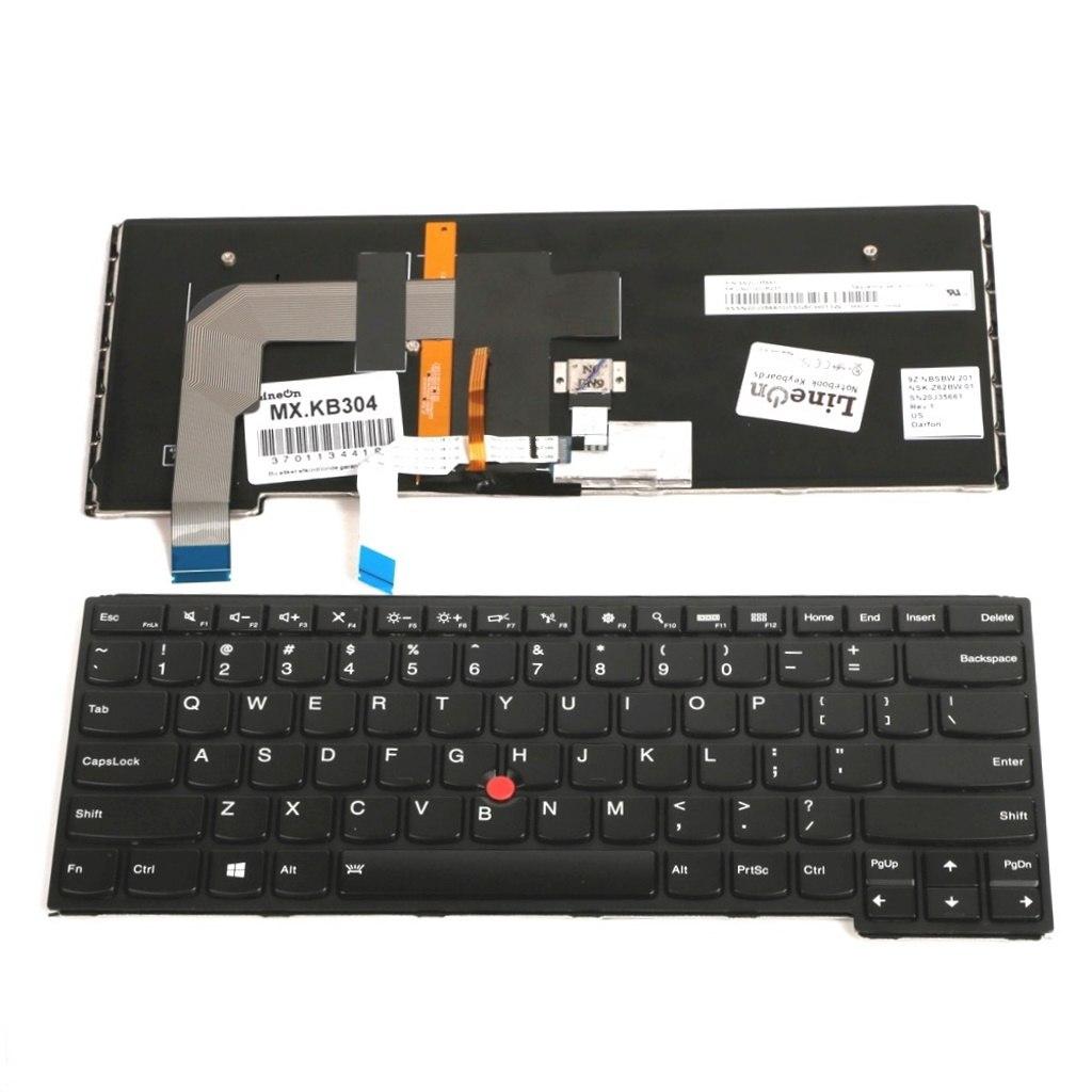 החלפת מקלדת לנייד לנובו  Lenovo ThinkPad Yoga 14 / S3 / 460 / P40  Backlit US Keyboard 00UR237