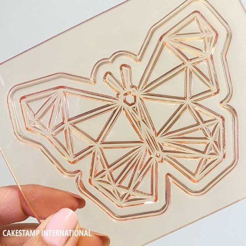 BUTTERFLY  GEOMETRIC Cake Topper | Flexible Polymer Mold | Chocolate Mold