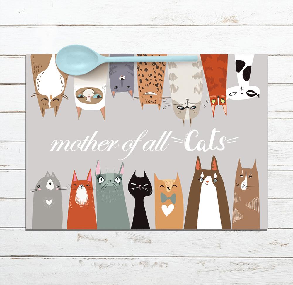 פלייסמטים מעוצבים לשולחן mother of all cats