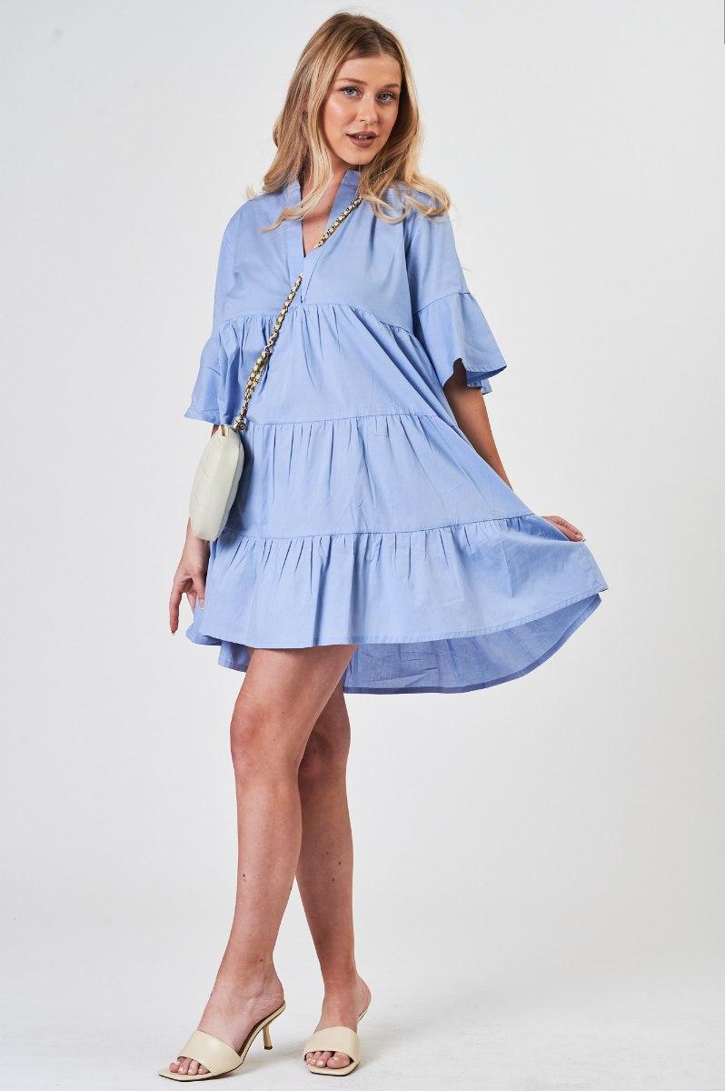 שמלת  כותנה נטלי תכלת