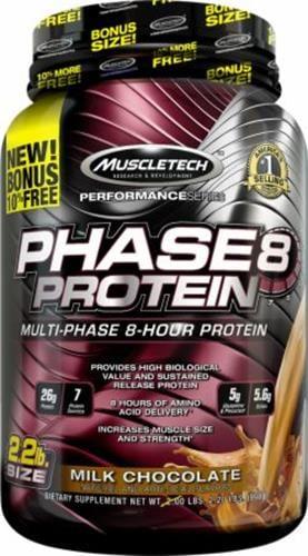 אבקת חלבון איכותית PHASE-8 מבית MUSCLE-PHARM