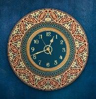 שעון קיר מעוצב, זכוכית אקרילית, דגם 2031  TIVA DESIGN