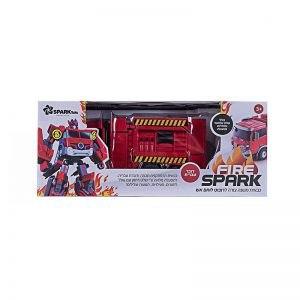 רובוט Fire Spark משנה צורה דובר עברית