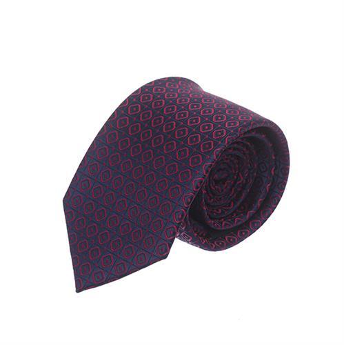 עניבה ריבועים מודפס כחול אדום