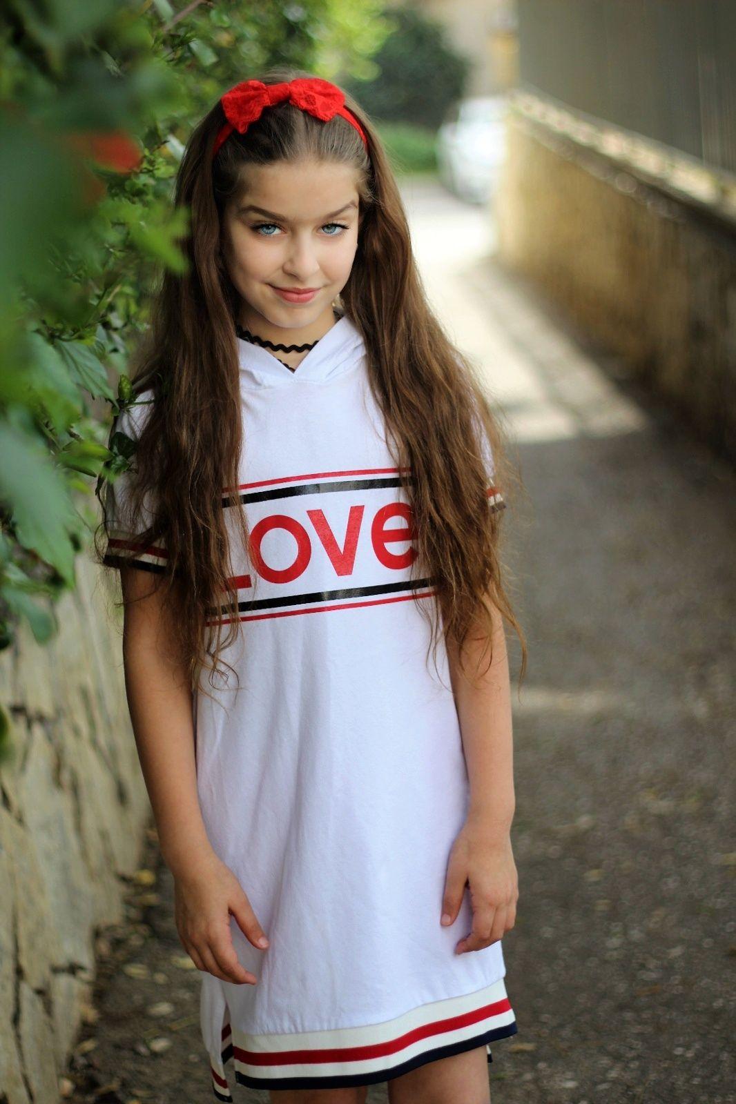 שמלת LOVE מודפסת