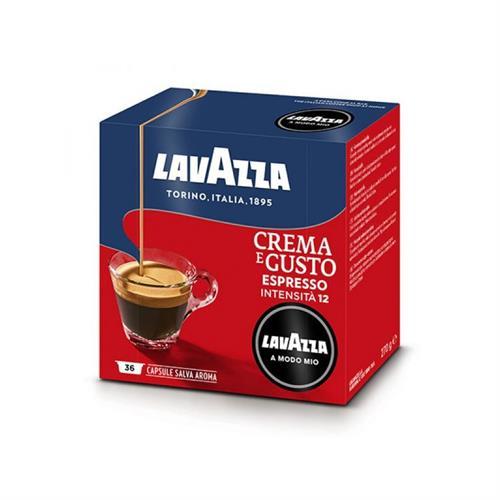 36 קפסולות קפה LAVAZZA A MODO MIO אורגינל תערובת Crema e Gusto- אדום-כחול