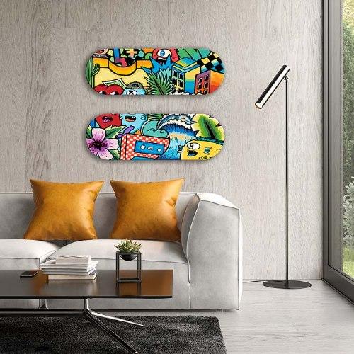 אומנות הגרפיטי שוכב - סקייטבורד ארט