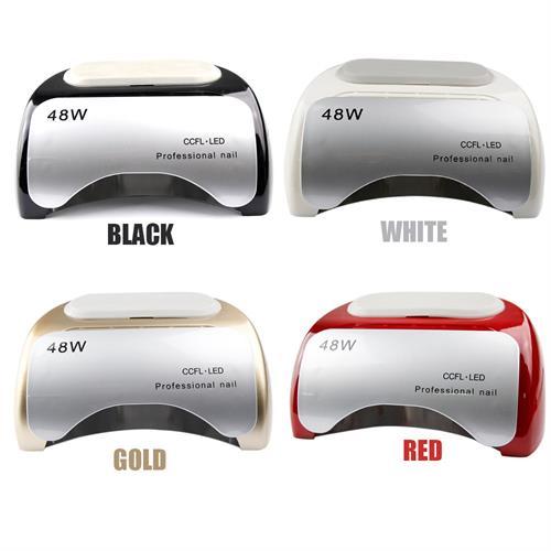 מכשיר מקצועי לייבוש ציפורניים לק ג'ל עוצמתי LED+UV מנורות 48W במגוון צבעים לבחירה