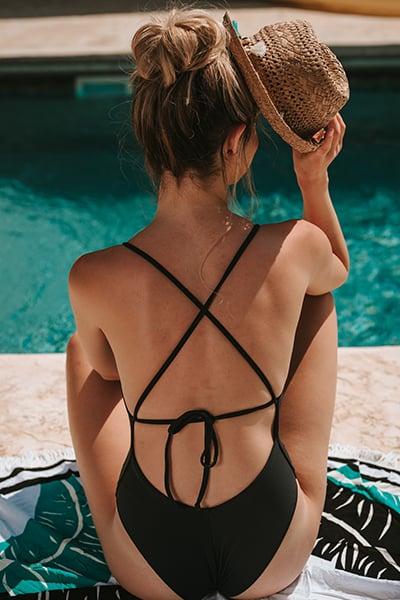 בגד ים שלם מיאמי שחור