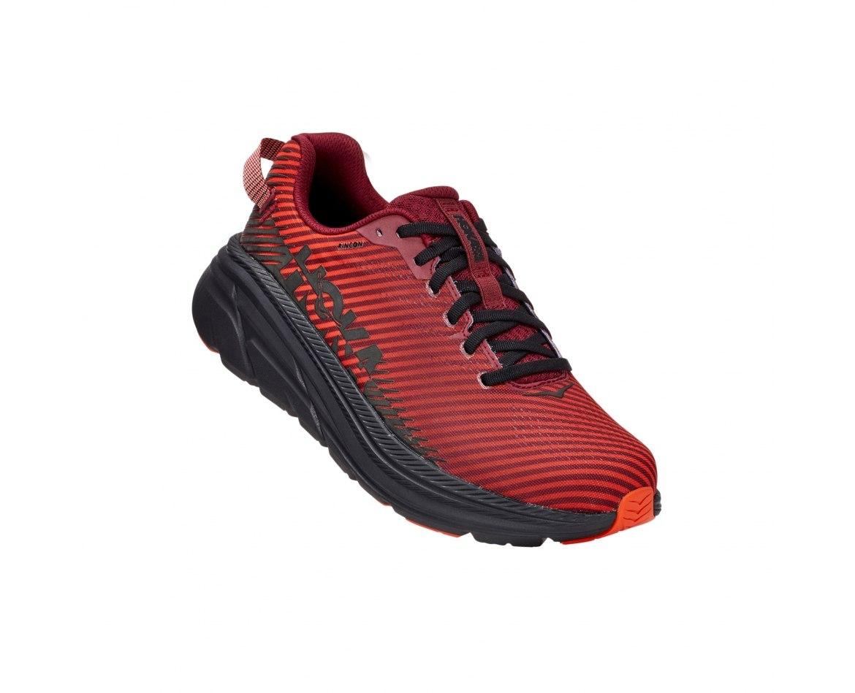 נעלי ריצה לגברים HOKA RINCON 2 בצבע שחור/אדום