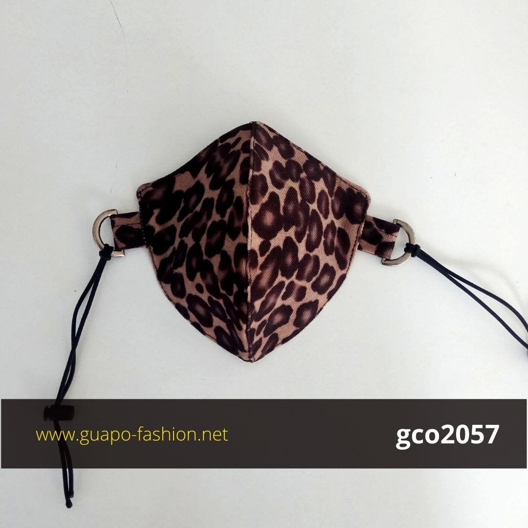 מסכת בד מנומרת leopard face mask