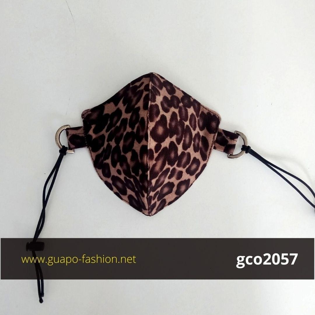 מסכת בד מנומרת leopard face mask