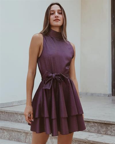 שמלת מיה קלוש לורקס- סגולה