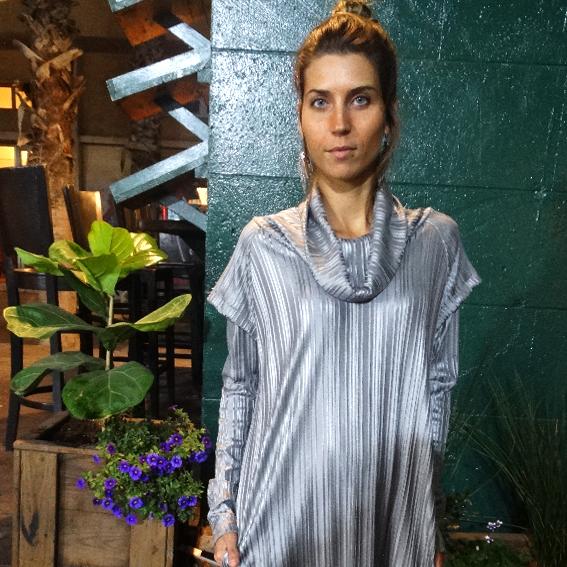 שמלת מאונטן כסופה שרוול ארוך