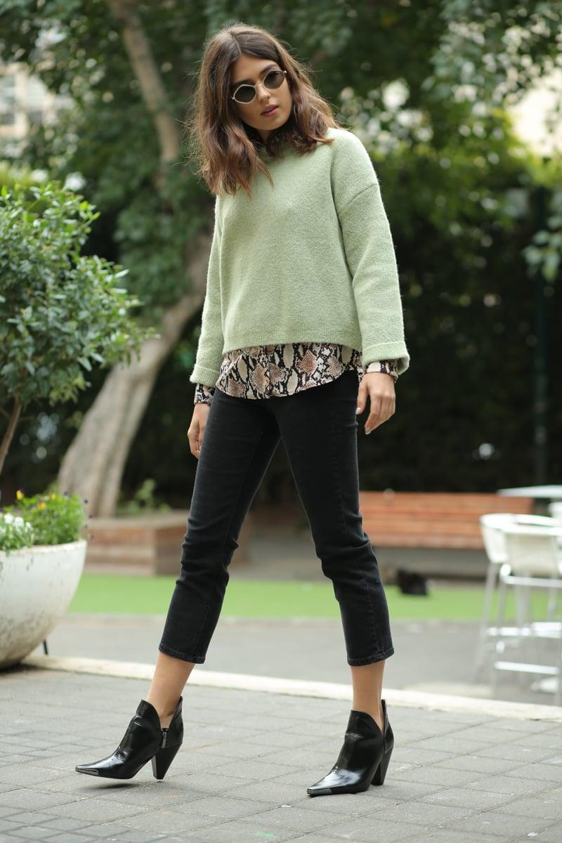 ג'ינס גבוה MOM