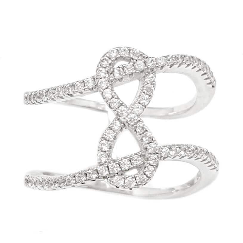 טבעת מכסף משובצת אבני זרקון  RG6087 | תכשיטי כסף | טבעות כסף
