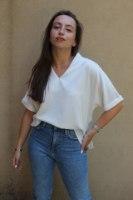 חולצת הלן לבנה