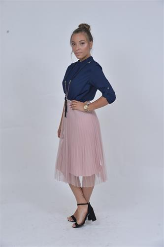 חצאית מתהפכת וורודה