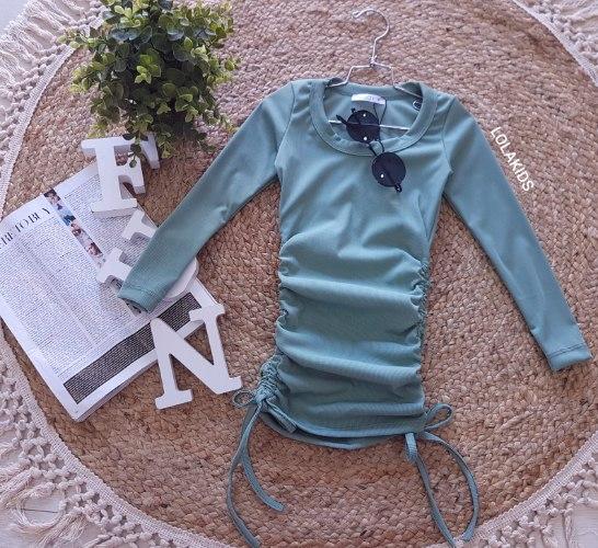 שמלת לייקרה קשירות דגם 9624/2